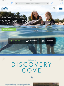 Discovery Cove Tablet